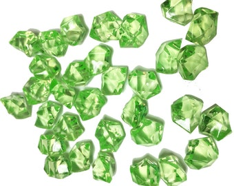 Vase Fillers 4 lbs Table Scatters Acrylic Ice Green - Approximately 750 pcs
