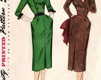 Simplicity 8435 Breathtaking Dress with Peeky Neckline 1940's / SZ16 UNCUT