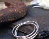 British made silver Russian wedding ring.