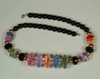 Chunky Colorful Beaded Necklace