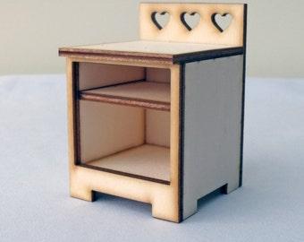 Heart Bedside Cupboard Hutch Kit,
