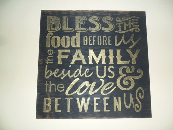 thanksgiving sign, thankful decor, thanksgiving decoration, fall decor, fall decoration, Bless The Food Before Us