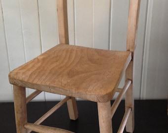 Child's wooden school chair