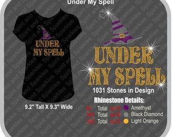 Under My Spell Rhinestone T-Shirt, Tank or Hoodie