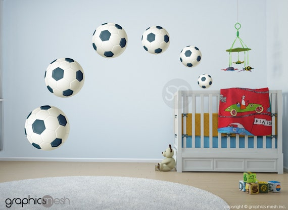 Soccer Ball Printed Wall Decals by GraphicsMesh