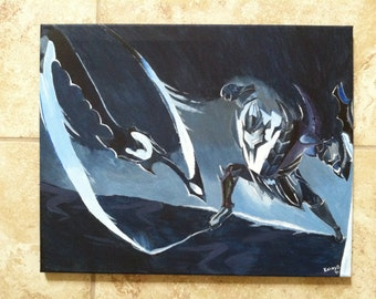 Original painting of Draven from League of Legends in his Soul Reaver skin