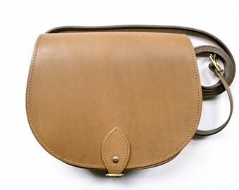 Vintage Brown Saddle Bag - Handmade in UK