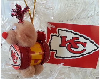 "NFL Xmas ""Reinbeer"" Ornament - Kansas City Chiefs"