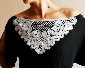 A decorative Russian bobbin lace  insert or applique.