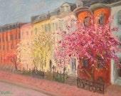 Spring Blooms of Boston Brownstones
