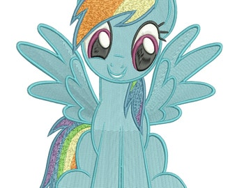 INSTANT DOWNLOAD Machine Embroidery Designs. Rainbow Dash. My Little Pony: Friendship Is Magic.
