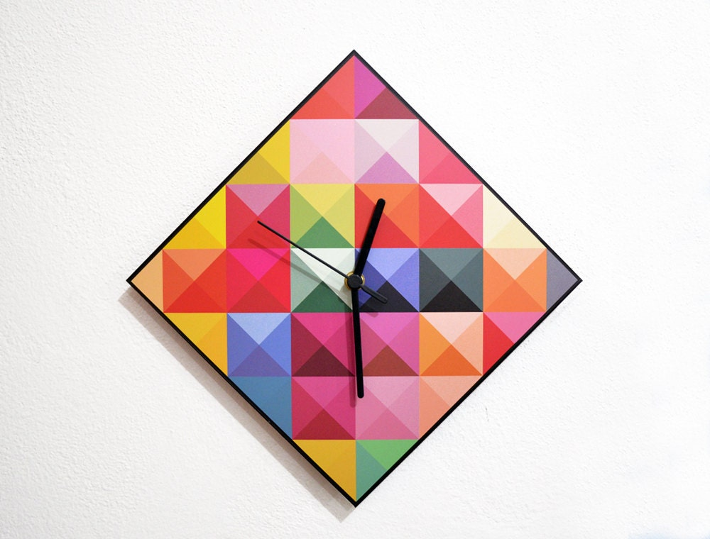 Hipster Triangle Pattern Wall Clock