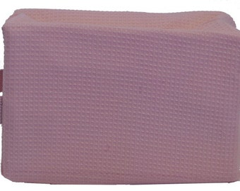 Personalized Waffle Cosmetic Bag Large Pink with FREE Personalization & FREE SHIPPING ww-pink