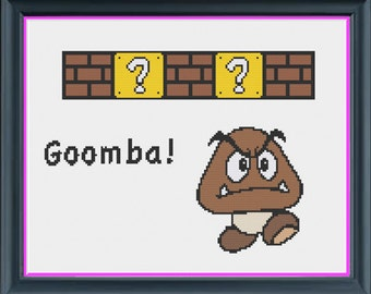 Nintendo Goomba Counted Cross Stitch PDF Pattern - INSTANT DOWNLOAD