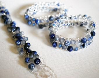 Crochet earrings and bracelets