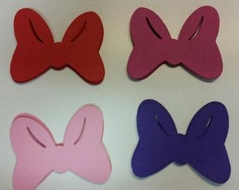 Bows Die Cuts/ Embellishments/ Cutouts/ Minnie Mouse Bows