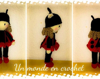 Tutorial in french for doll Coccibelle, approx 30 cm