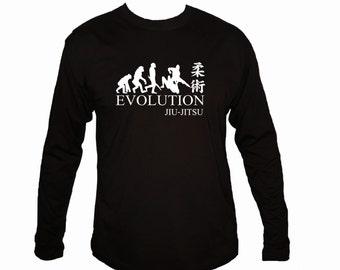 Evolution Jiu Jitsu MMA black 100% cotton customized sleeved t-shirt
