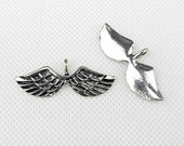 2x Charme Making Jewellery Keyrings Necklace Jewelry Findings Charms fabrication bijoux breloques 5-13539 Wings