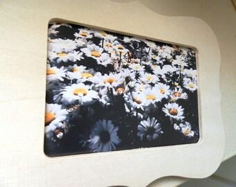 White Daisies- wood frame