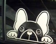 The Axie B (French Bulldog) Window Decal