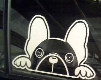 The Axie B (French Bulldog) Window Decal