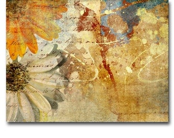 Abstract Flowers Art Canvas Print Panel Wall Art Framed home decor painting office decor