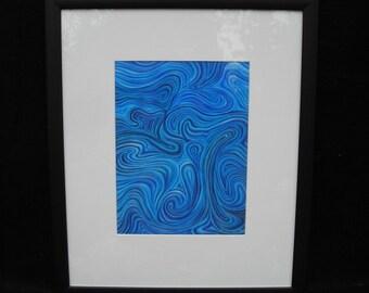 Landscape in Blue - Fine Art Print on Watercolour Paper