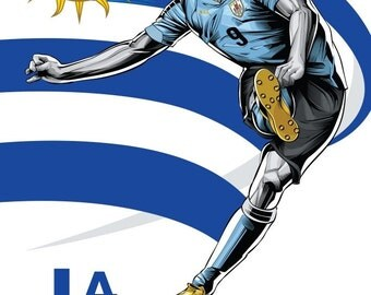 Uruguay   World Cup Poster Soccer 11*17