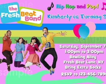Personalized  Fresh Beat Band Birthday Invitation - Print Your Own