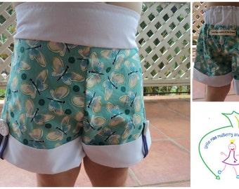 Blue Butterflies - Brownie Goose Sailor Shorts
