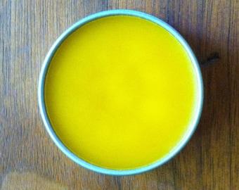 Calendula Salve,Triple Strength - Organic Olive Oil, Homegrown Calendula Flowers & Beeswax, 1 ounce or 4 ounces
