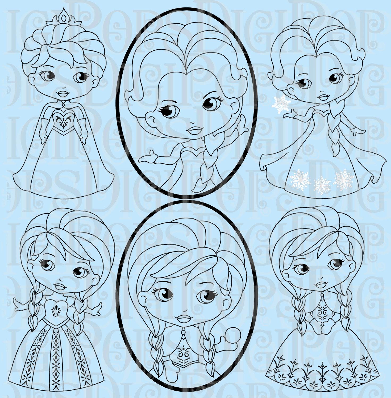 Princess Clipart Black And White Snow Princess Black And White