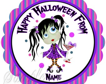 Halloween Stickers, Gift Tags Personalized Labels, Halloween Favor Stickers Halloween Ghouls night out