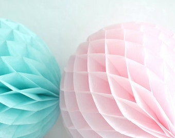 Tissue Paper Pom Pom HONEYCOMB BALLS baby mobile  hanging decorations ball
