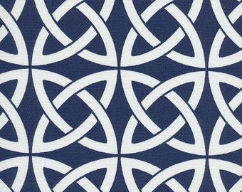 Linked In Royal Blue Indoor Outdoor contemporary Fabric