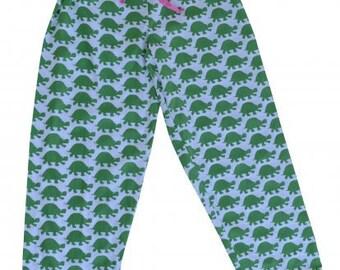 Green Turtle Pajama Pants