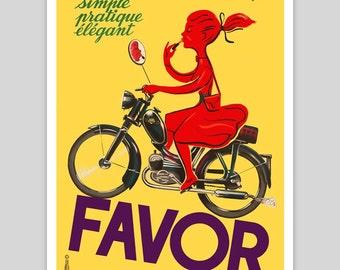 Favor 'Lipstick Girl' Vintage Poster