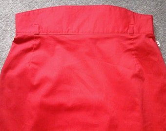 ladies red pencil wiggle fitted skirt, size 16, fully lined, high waisted