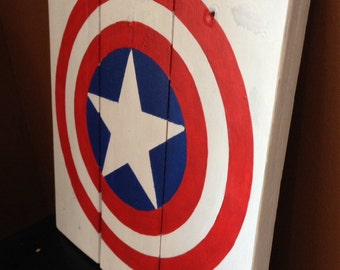 Captain America Wood Pallet Sign
