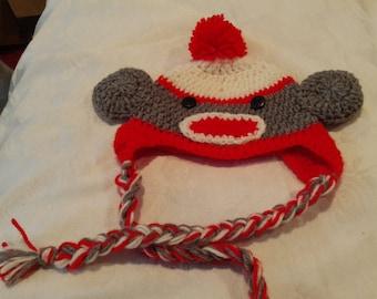 CrochetHalloween monkey hat.