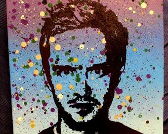 Jesse Pinkman Pop Art Stencil Portrait