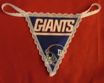 Womens NEW YORK GIANTS G-String Thong Female Nfl Lingerie Football Underwear