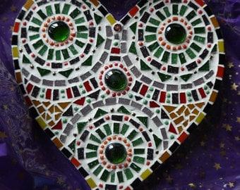 Mosaic heart, rainbow heart mosaic