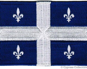 QUEBEC FLAG PATCH Canada iron-on embroidered applique Top Quality