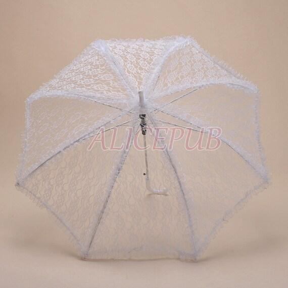 White Lace Wedding Umbrella Black Lace Bridal Umbrella By ALICEPUB