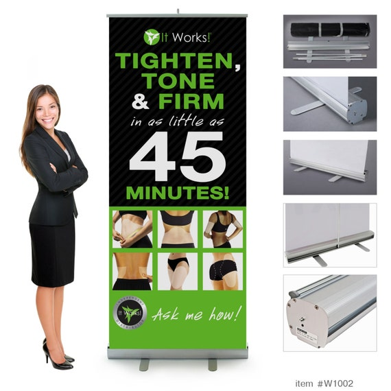 It works global wraps retractable banner 7ft tall free for It works global photos