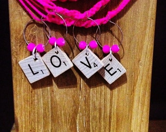 Scrabble Wine charms- custom made to suit you!