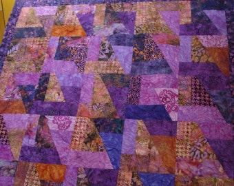 Beautiful Batik Intricately Quilted Wall Hanging or Throw
