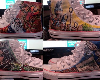 Hand-Painted Harry Potter shoes